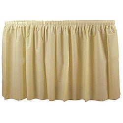 Duni Supply Buttermilk 14-foot Tableskirt