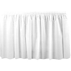 Duni Supply White 14-ft Tableskirt