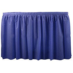 Duni Dark Blue 14-ft Tableskirt