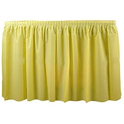 Duni Supply Yellow 14-ft Tableskirt