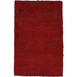 Hand-woven Warmth Burgundy Red Wool Rug (2&#39; x 3&#39;)