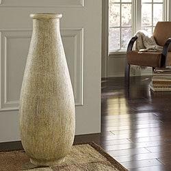 Whitewash Large Floor Vase (Indonesia)