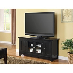 Black Solid Wood 52-inch TV Stand