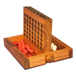 Wood Travel-size Connect Four Game (Thailand)