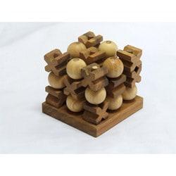 Wood 3D Tic-Tac-Toe Game (Thailand)
