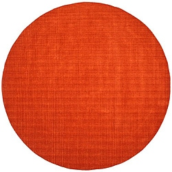 Hand-tufted Pulse Orange Wool Rug (6' Round)