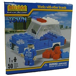 Best-Lock 50-piece Policeman and Car Construction Set