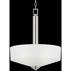 Titan Energy Star 4-light Satin Nickel Pendant Light