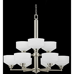 Titan Energy Star 9-light Satin Nickel Chandelier