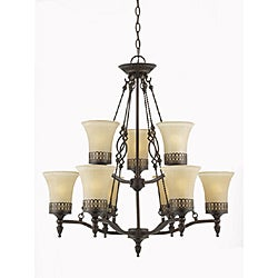 York Energy Star 9-light English Bronze Chandelier