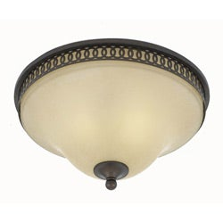 York 2-light Energy Star English Bronze Flush Mount