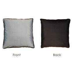 Blue to Brown Reversible Silk Pillow