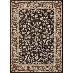 Primeval Brown Oriental Rug (5'3 x 7'7)