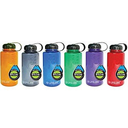 BPA-free 32-oz Assorted Colors Plastic Water Bottles (Pack of 12)