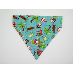 Ruff Stuff USA Holiday Tropical Santa Dog Collar Bandana