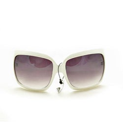 Women&#39;s 26557 White Oversized Sunglasses