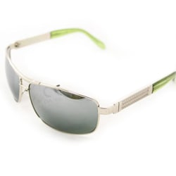 Men's D0392 Silvertone Aviator Sunglasses