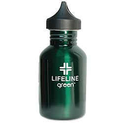 Stainless Steel 18-oz Green Water Bottle (Pack of 6)