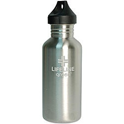 Stainless Steel 27-oz Silver Water Bottles (Pack of 6)