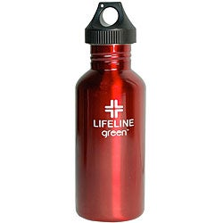 Stainless Steel 27-oz Red Water Bottles (Pack of 6)