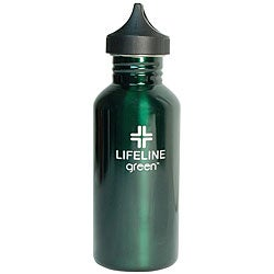 Stainless Steel 27-oz Green Water Bottles (Pack of 6)