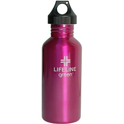 Stainless Steel 27-oz Pink Water Bottles (Pack of 6)