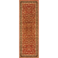 Hand-tufted Primeval Orange Oriental Rug (2'8 x 7'7)