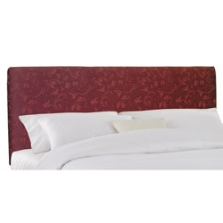 Lindsey King-size Upholstered Burgundy Damask Headboard