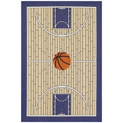 Sports Time Basketball Rug (3'3 x 5')