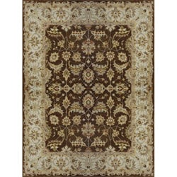 Hand-tufted Aara Brown Wool Rug (5' x 7'6)