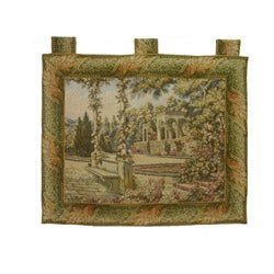 Gardens at Lake Como Cotton Wall Tapestry (34 x 44)