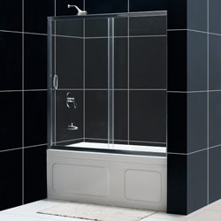 DreamLine Infinity 60x58-inch Clear Glass Sliding Bathtub Door