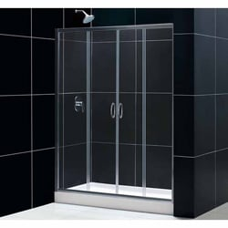 DreamLine Visions 60x72-inch Clear Glass Sliding Shower Door