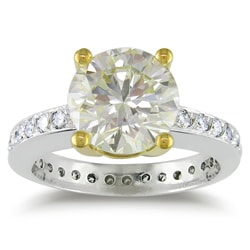 Miadora Platinum 3 1/2ct TDW Certified Round Solitaire Diamond Ring (VS1-VS2)