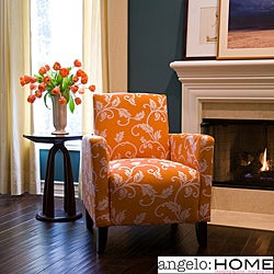 angelo:HOME Sutton Pumpkin Blossom and Cream Vine Arm Chair