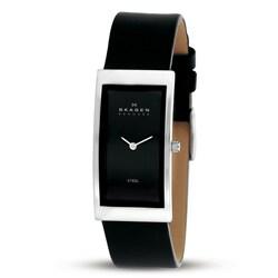Skagen 359USLB Black Leather Strap Watch