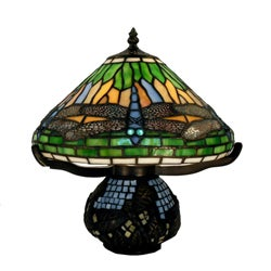 Indoor 1-light Dragonfly Bronze Table Lamp