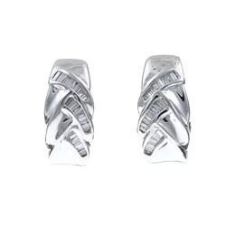 Kabella 18k White gold 3/5ct TDW Diamond Earrings (H-I, SI-1)