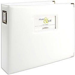 Pebbles Share & Tell White 12 x 12-inch Photo / Scrapbooking Album