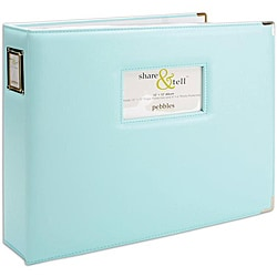 Pebbles Share & Tell Baby Blue 12x12-inch Photo / Scrapbooking Album