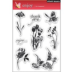 Penny 'Enjoy' Clear Stamps