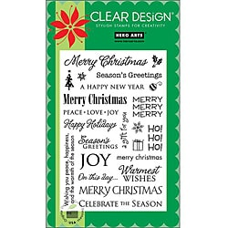 Hero Arts 'Holiday Sayings' Clear Stamps