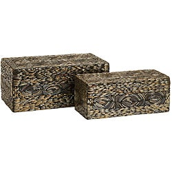 Set of 2 Regent Sequoia Rectangle Boxes