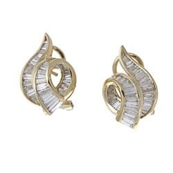 Kabella 18k Yellow Gold 2 1/3ct TDW Diamond Earrings (I-J, I1-I2)