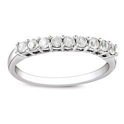 Sterling Silver 1/2ct TDW Round Diamond Wedding Band (G-H, I3)