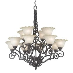 Lynley 12-light Copper Chandelier