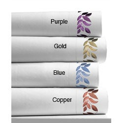 Leaf Embroidered 400 Thread Count Extra Deep Pocket Sheet Set