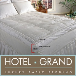 Hotel Grand Luxurious Downtop Baffle Box 4-inch Gusset Featherbed