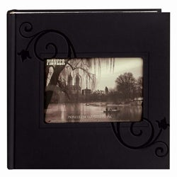 Pioneer PVC-Free 200-pocket Black Leatherette Photo Album (Pack of 2)