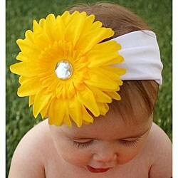 Headbandz Girls Yellow Daisy with Headband